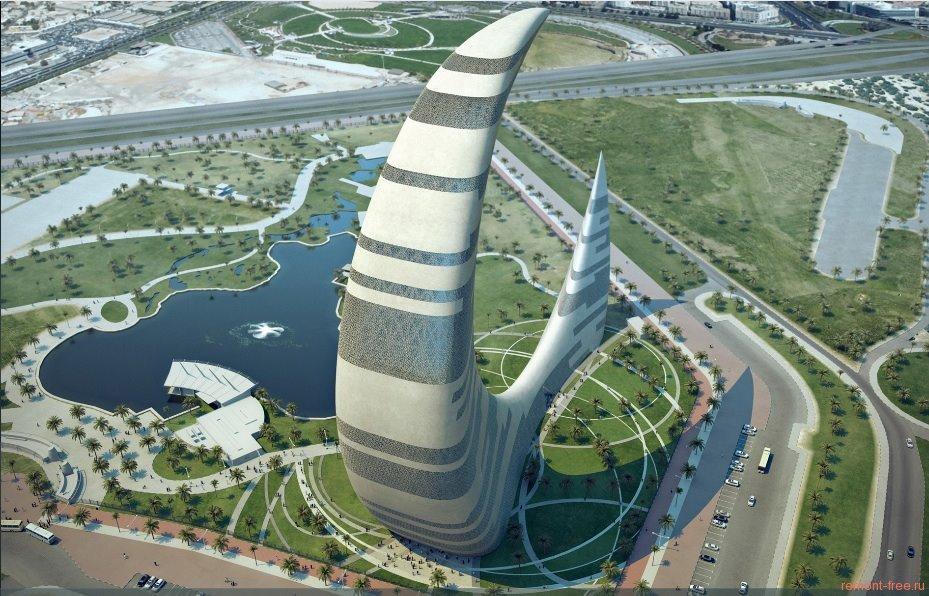 Небоскреб-полумесяц в Дубае