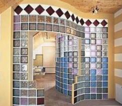 Межкомнатные перегородки из стеклоблока
