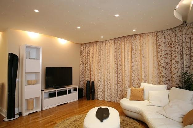 Фотографии освещения в гостиной