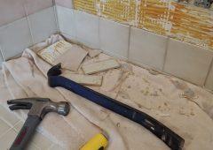 Как удалить старую плитку