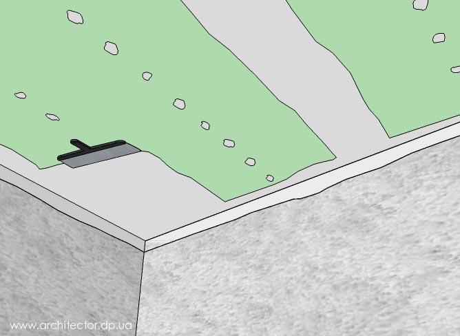 шпаклюем потолок из гипсокартона
