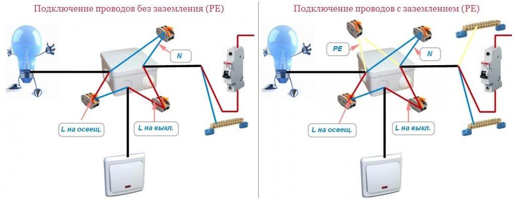 схемы соединения проводов