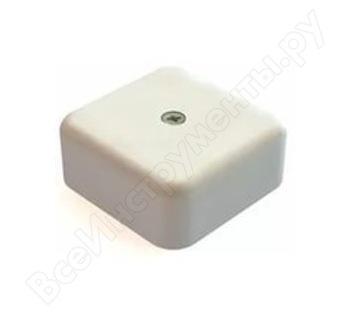 Распаячная коробка TDM 50х50х20 ОП с клеммной колодкой белая SQ1401-0202
